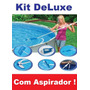 Kit De Limpeza Piscina Intex Cabo Aspirador Peneira Deluxe