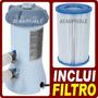 Bomba Filtrante Filtro Piscina 110v Intex + Refil Motobomba