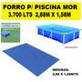 Forro Para Piscina Retangular 3700 Litros Mor 2,88m X 1,58m