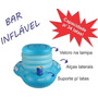 Cooler Caixa Termica Flutuante Bolsa Piscina Cerveja Fibra