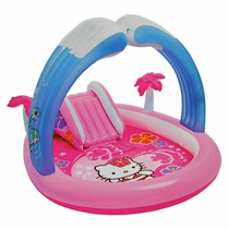 Piscina Inflável Com Escorregador Hello Kitty - Intex 220l