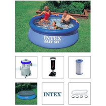 Piscina Intex 2419 Litros + Bomba Filtrante + Capa + Q1 2420