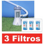 Bomba Filtrante Piscina Intex 2006 Lh + 03 Filtro Cartucho