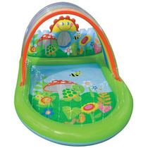 Brinquedo Piscina Inflável Playground Mundo Encantado Intex