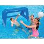 Trave Inflável De Polo Aquático Futebol Intex Piscina + Bola