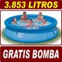 Piscina Inflável Easy Set 3853 Litros Intex + Bomba Brinde