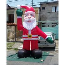 Papai Noel Inflável Gigante 4m Em 3d Enfeites De Natal