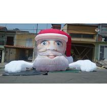 Papai Noel Gigante Inflável Espião 4m Infláveis De Natal