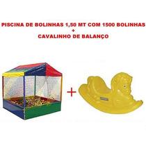 Piscina De Bolinhas 1,50 Mt Com 1500 Bolinhas E Cavalinho