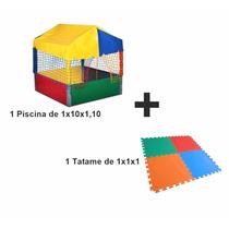 Piscina De Bolinha 1,10x1,10 + Tatames.preço De Fabrica! Top