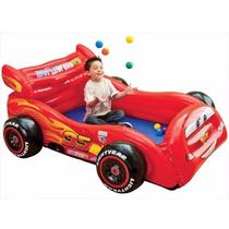 Piscina De Bolinhas E Cama Inflável Intex Cars Com Bolinhas