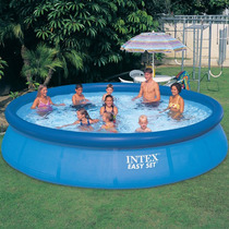 Piscina de plastico redonda grandes ar livre malabares for Piscina 8000 litros redonda