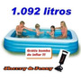 Piscina Inflável Intex Retangular Familiar 1000lts Lazer