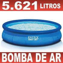 Piscina Inflável Easy Set 5621 Litros - Intex + Bomba Brinde