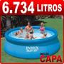Piscina Inflável Easy Set 6734 Litros Intex + Capa Cobertura