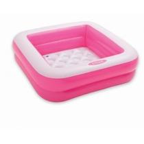 Piscina Infantil Inflável Soft Fundo Rosa 57 Litros Intex