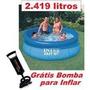 Piscina Inflável 2419 L Intex + Bomba De Ar Frete Grátis