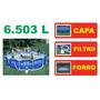Piscina Intex 6503 L Estrutural Bomba Filtro 110v Capa Forro