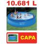 Piscina Intex Inflável 10681 Litros Com Capa 10.680 10.681