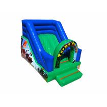 Mini Tobogã Inflável Turma Do Zoo - Frete Grátis