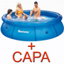 Piscina Inflável 3.700 Litros + Capa - Bestway Intex - 3700