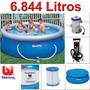 Kit Piscina Inflável Bestway Intex 6.844l Filtro Capa Bomba