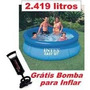 Piscina Inflável Easy Set 2419 Litros Intex + Bomba De Ar