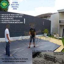 Capa Lona Piscina Jacuzzi 2x1,5 Molas Inox Suporta 300kg