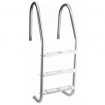 Escada Para Piscina - Aço Inox 304 - 3 Degraus Em Abs