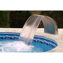Cascata Para Piscinas Wave Em Aço Inox 60 Cm