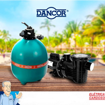 Filtro De Piscina Dancor Dfr-15-7 Com Motobomba De 1/2cv M