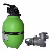 Filtro Piscina Veico V30 E Bomba 1/3cv Motor Weg P/ 34.000l