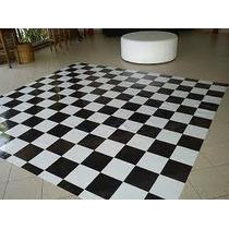 Pista De Dança - 2x4m - 8m² - Piso Xadrez Tapete Xadrez