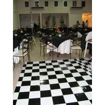 Pista De Dança - 2x5m - 10m² - Piso Xadrez Tapete Xadrez