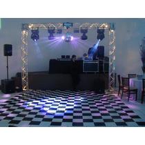 Tapete Xadrez - 4x4m - 16m² + Dupla Face - Pista De Dança Dj