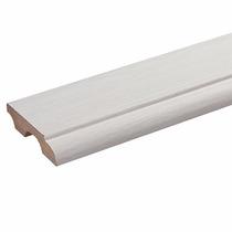 Rodapé De 8cm Branco Em Mdf Com Passa Fio (acabado)