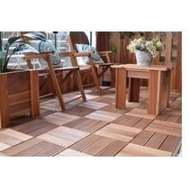 Promoção Deck Modular Madeira 30cmx30cmx3cm Liso Ou Frisado