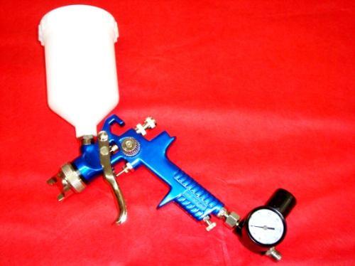 Pistola De Pintura Gravidade - Hvlp Com 2 Bicos E Manômetro