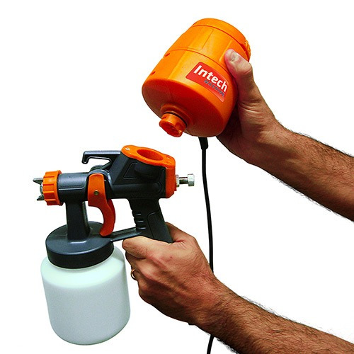 Pistola pintura el trica 450 watt mini compressor portatil - Pistola de pintura electrica ...