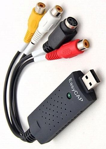 Placa De Captura Usb 2.0 Easycap Dc60+ P/ Ps2 Ps3 E Xbox 360