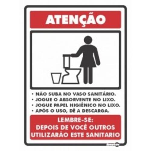 Higiene Para Banheiro : Placa de sinaliza??o higiene banheiro feminino