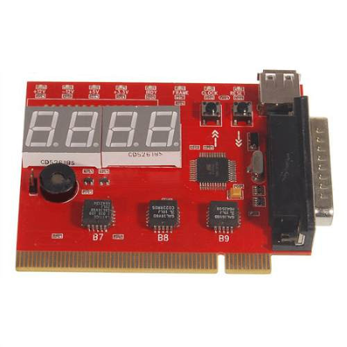 Placa Diagnostico Pci Pc Analyzer 4 Digitos. Frete Gratis.