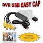 Dvr Placa Usb Externa Dvr Easy Cap 4 Canais Cftv Digital