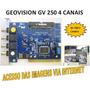 Geovision Gv-250 P/ 4cameras Versao 7.x Original