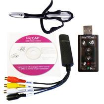 Kit De Captura Comentado: Easycap Dc60+, Placa De Som + Cabo