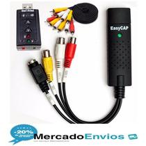 Kit De Captura De Audio E Vídeo Com Easycap- Placa Som+cabos