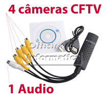 Placa De Captura Dvr Usb Easycap Vhs Notebook Pc