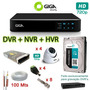 Kit Completo Cftv Giga 4ch 720p + 4 Domes + 1tb Surveillance