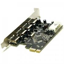 Placa Controladora Pci-e Usb 3.0 5gbps Com 4 Portas