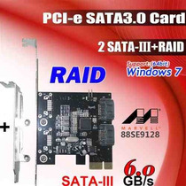 Placa Pci Express Marvell 88se9128 Sata3 3.0 Iii Raid Card